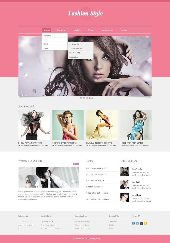 Fashion Responsive Website Template Web Design Templates Website Templates Download Fashion