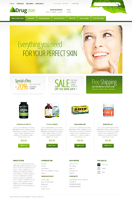 Drug store - Perfect Drugs For Active Life PrestaShop Theme