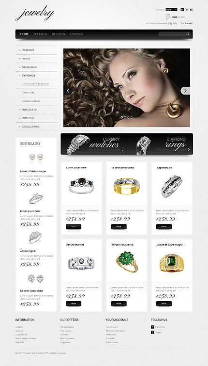 Jewelry store - Grand Jewellery Store PrestaShop Theme