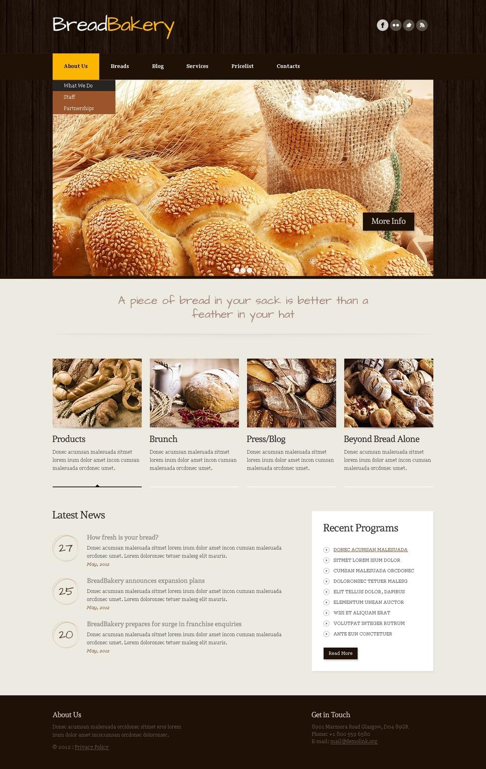 Crispy Bakery Joomla Template