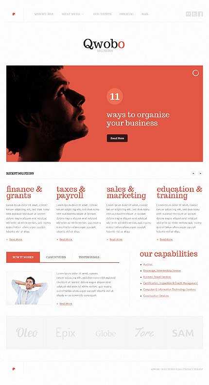 View Live Demo for Qwobo – Best Responsive WordPress Business Theme