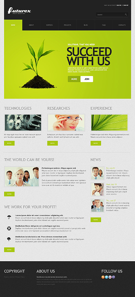 Furturex - Best IT WordPress Theme For Corporate