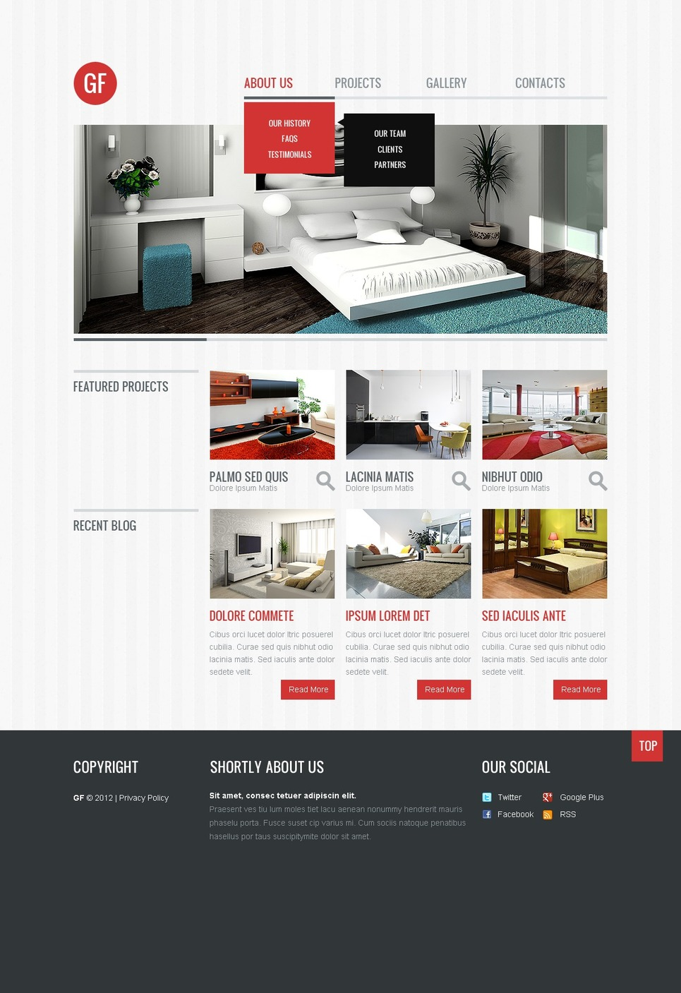 Interior design responsive website template web design for Interior design responsive website templates edge free download