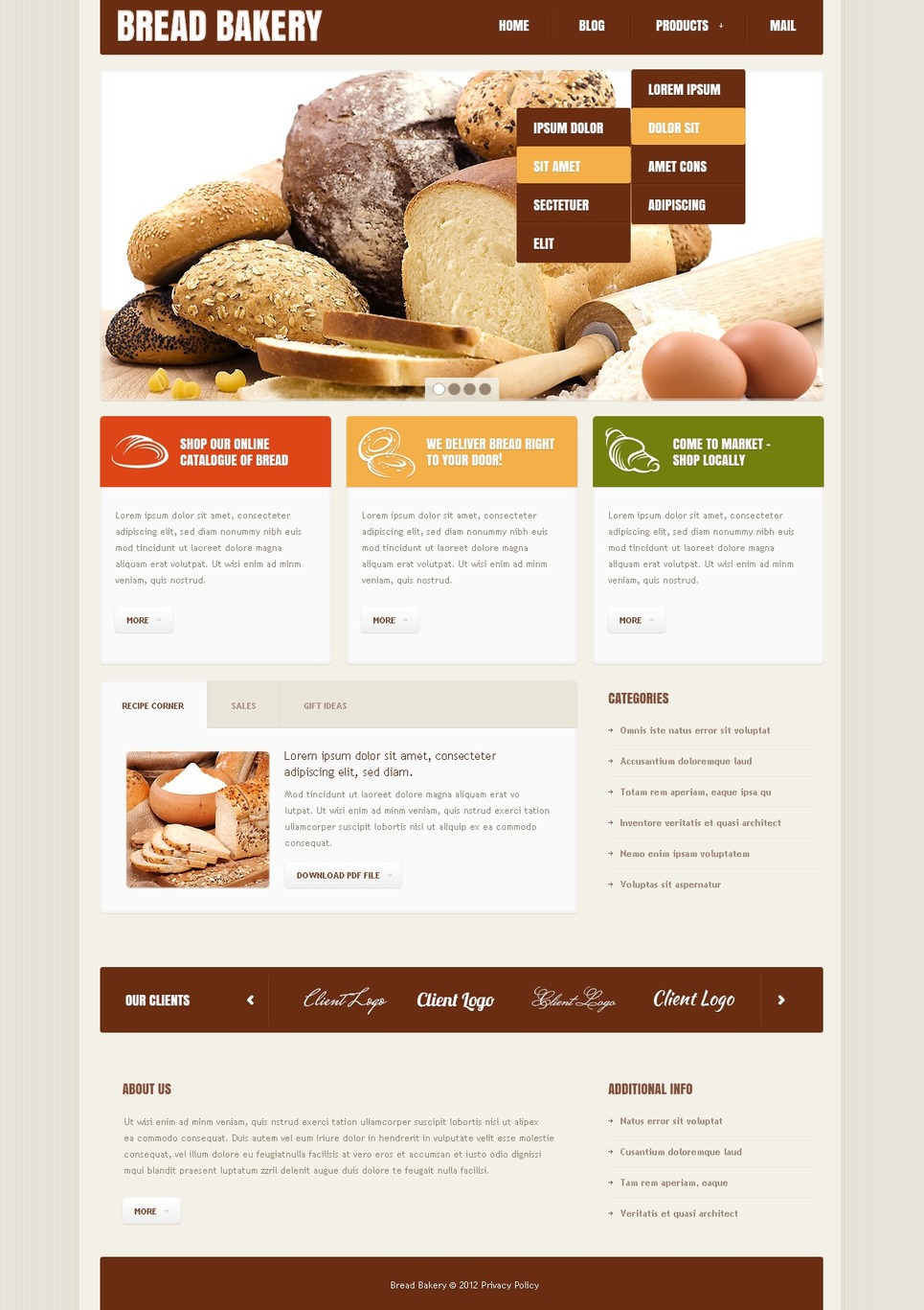 Ultimate Responsive Bakery Joomla Template Collection | Coffee ...
