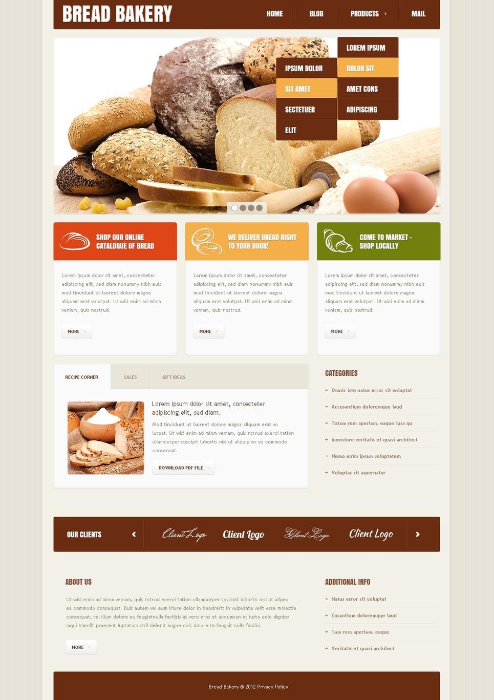 Friable Bakery Joomla Template