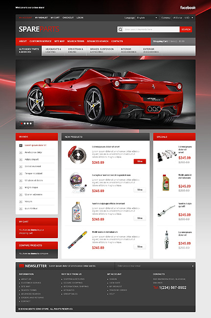 Spare parts - Quality Spares For Your Bolide MagentoTheme