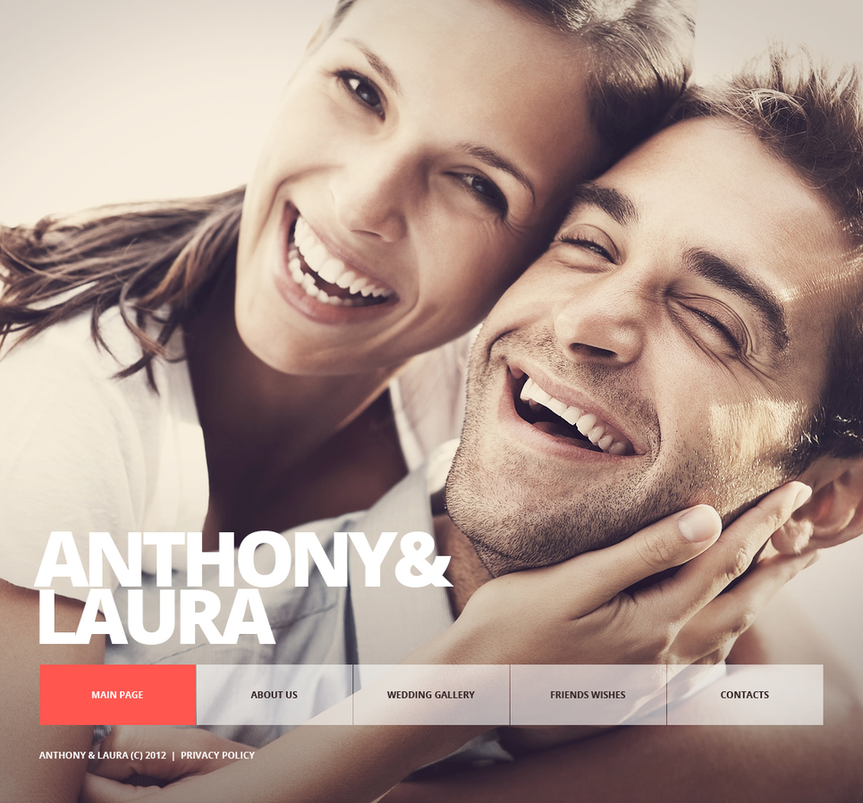 Wedding Website Template with Online Photo Album Functionality - image