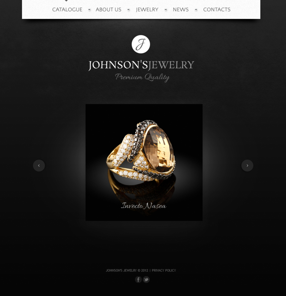 Black Website Template for Jewelry Showcase - image
