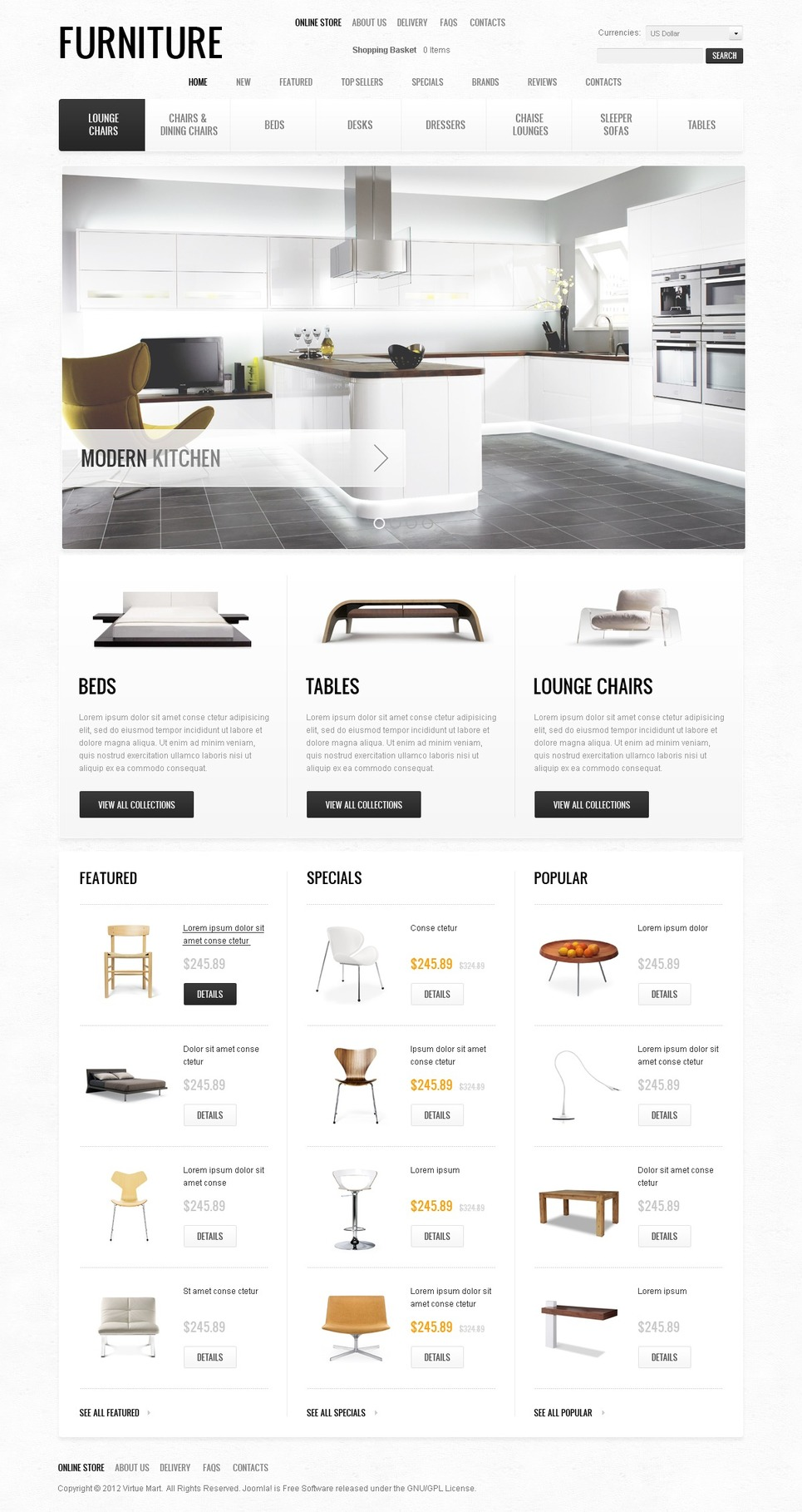 Unique Living Space Furniture OSCommerce Theme