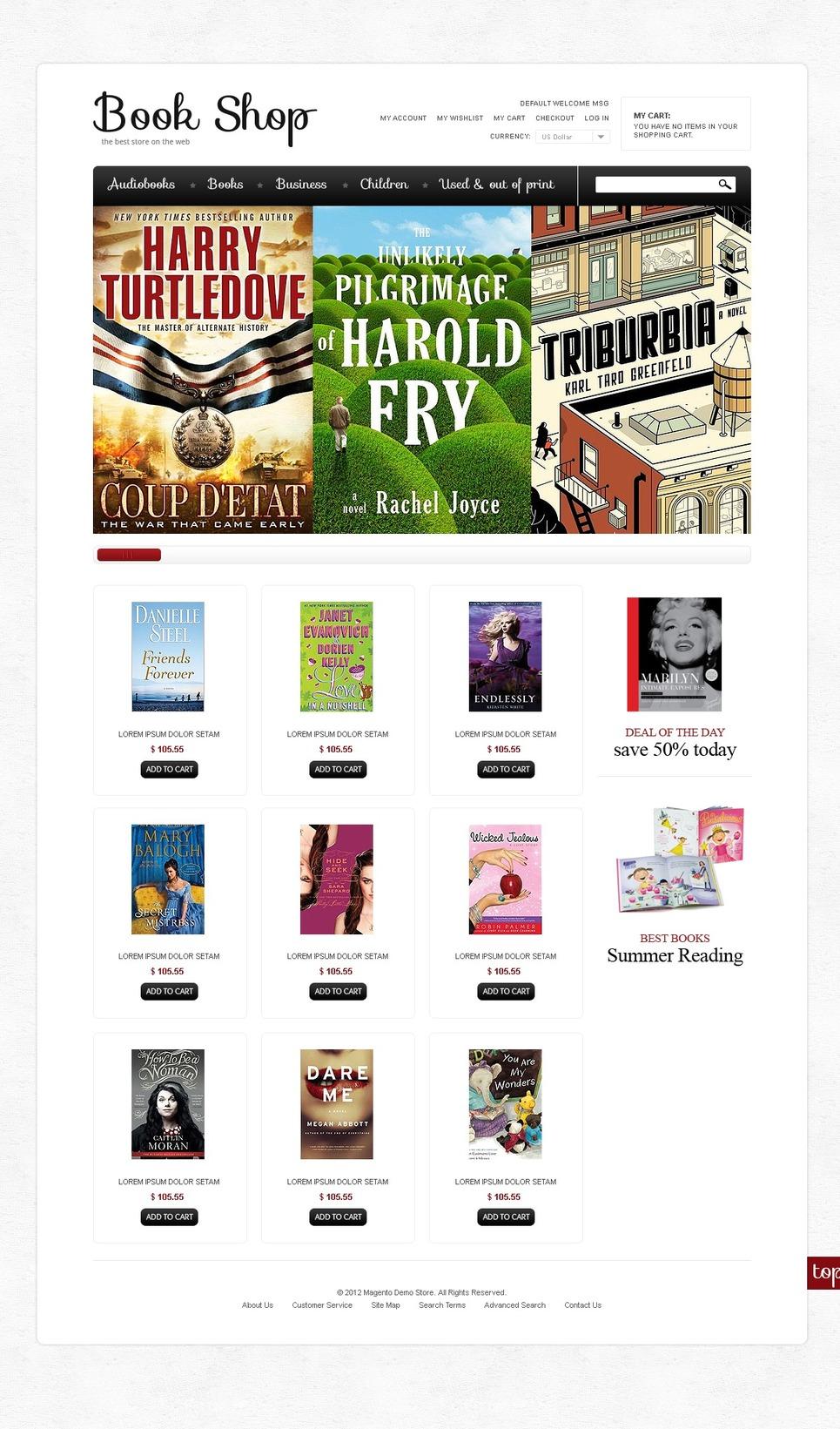 Leading Book Shop Magento theme