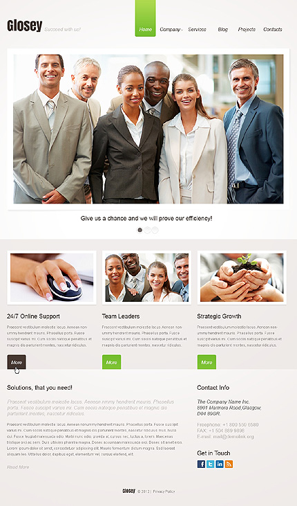 Glosey - Best Responsive Business WordPress Theme