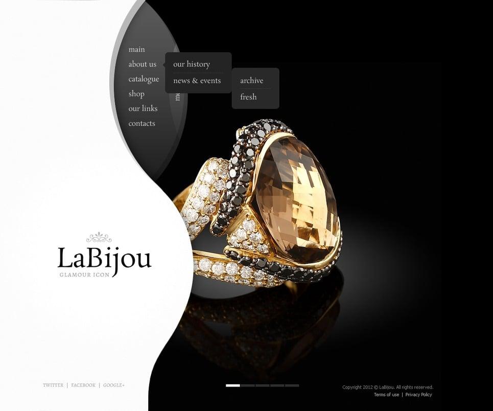 Jewelry Website Template 40764