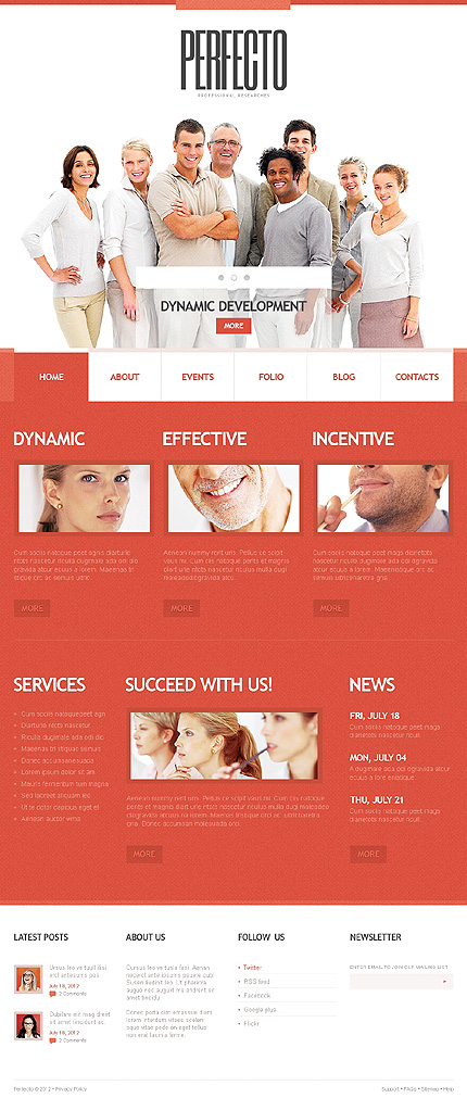 Perfecto - Best WordPress Theme For Management Company
