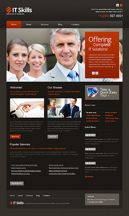 IT skills - Best WordPress Theme For Corporate