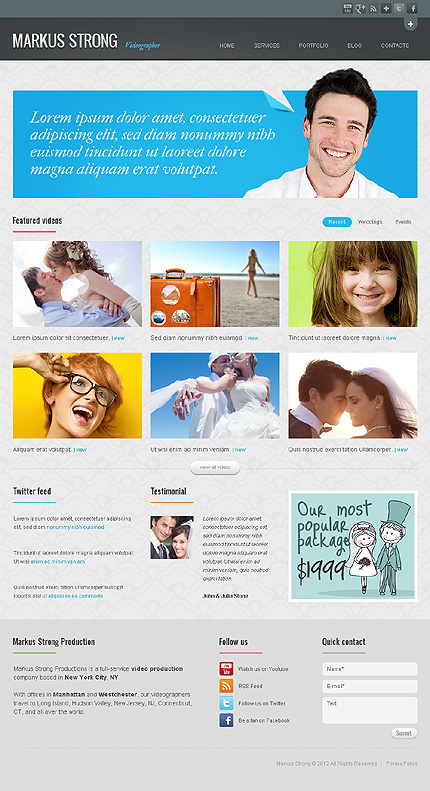 Markus Strong - Best Premium WordPress Theme For Portfolio and Photography Website