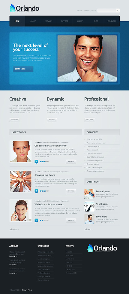 Orlando - Best WordPress Theme For Business