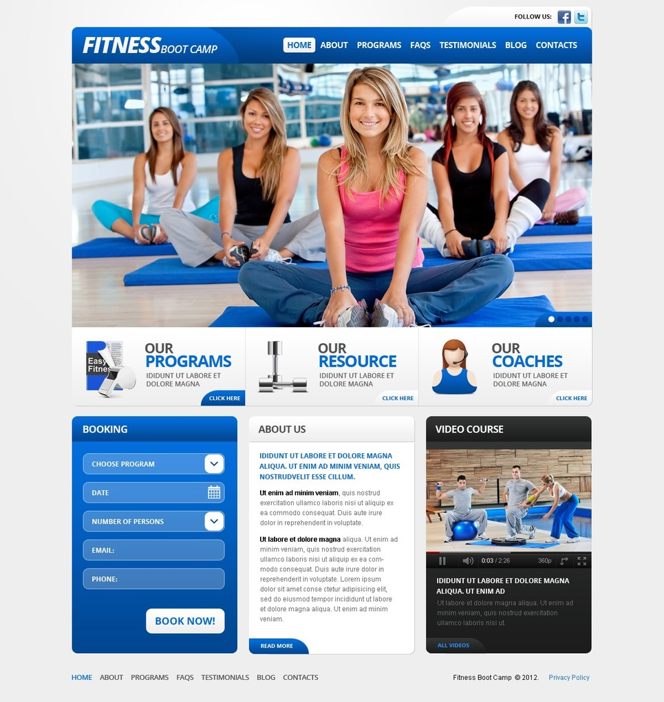 Fitness Gym Responsive WordPress Theme