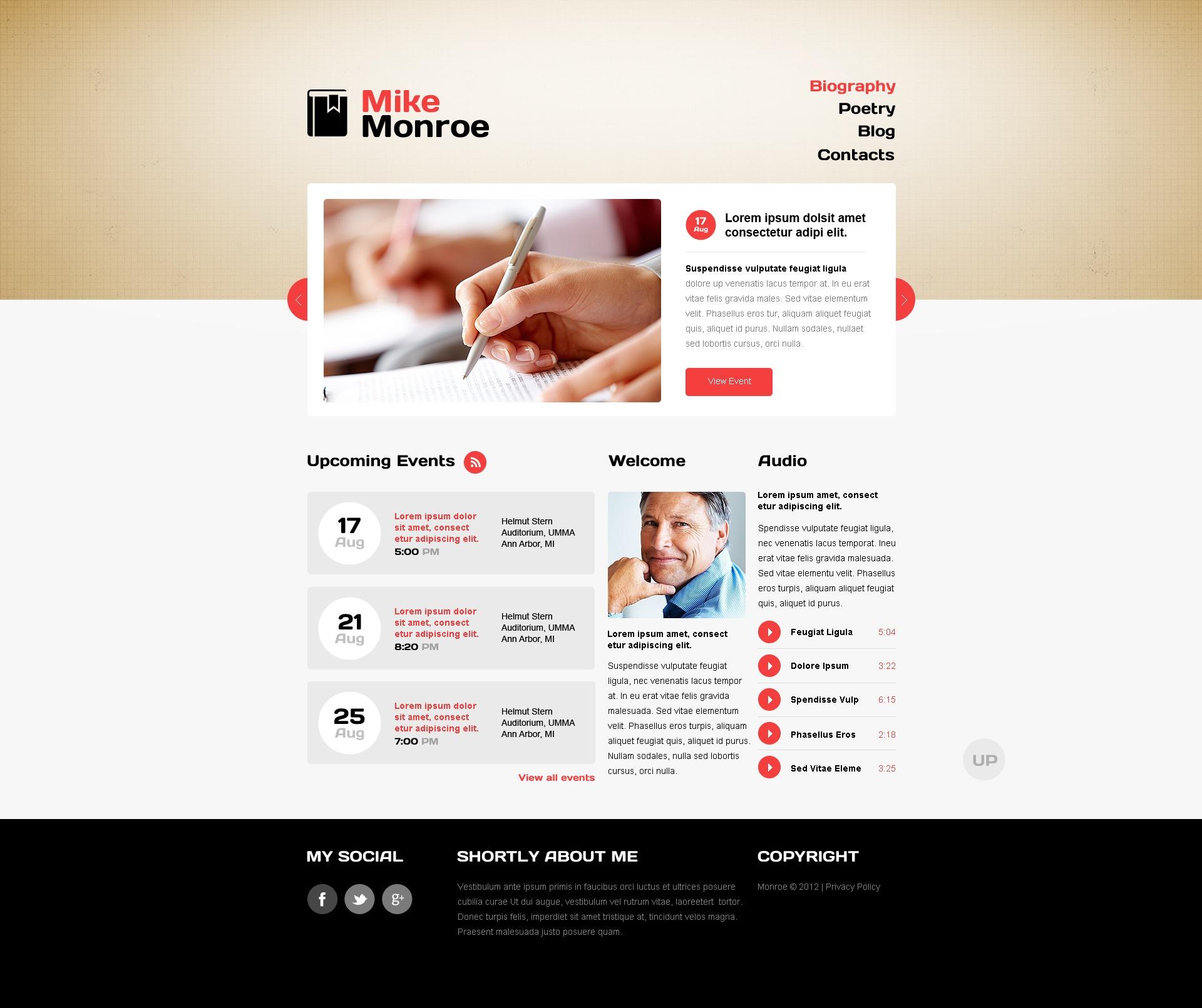 Tema siti web per un sito di pagine personali for Siti web di costruzione domestica