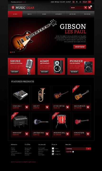Music Gear - Professional Music Gear Prestashop Theme