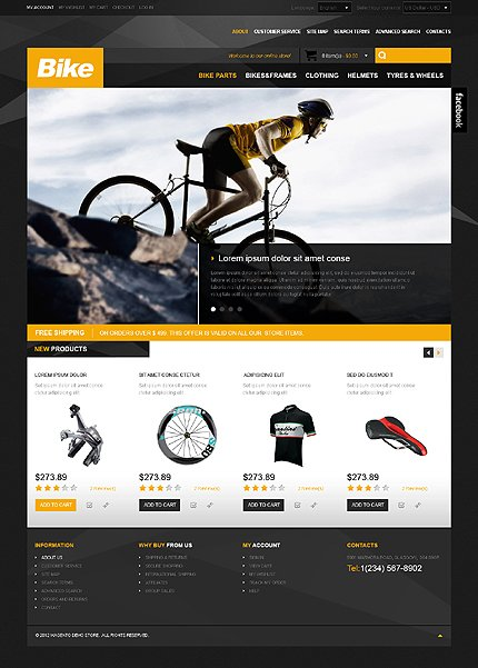 Bike - Clean Online Car Store and Vehicle Store Magento Theme