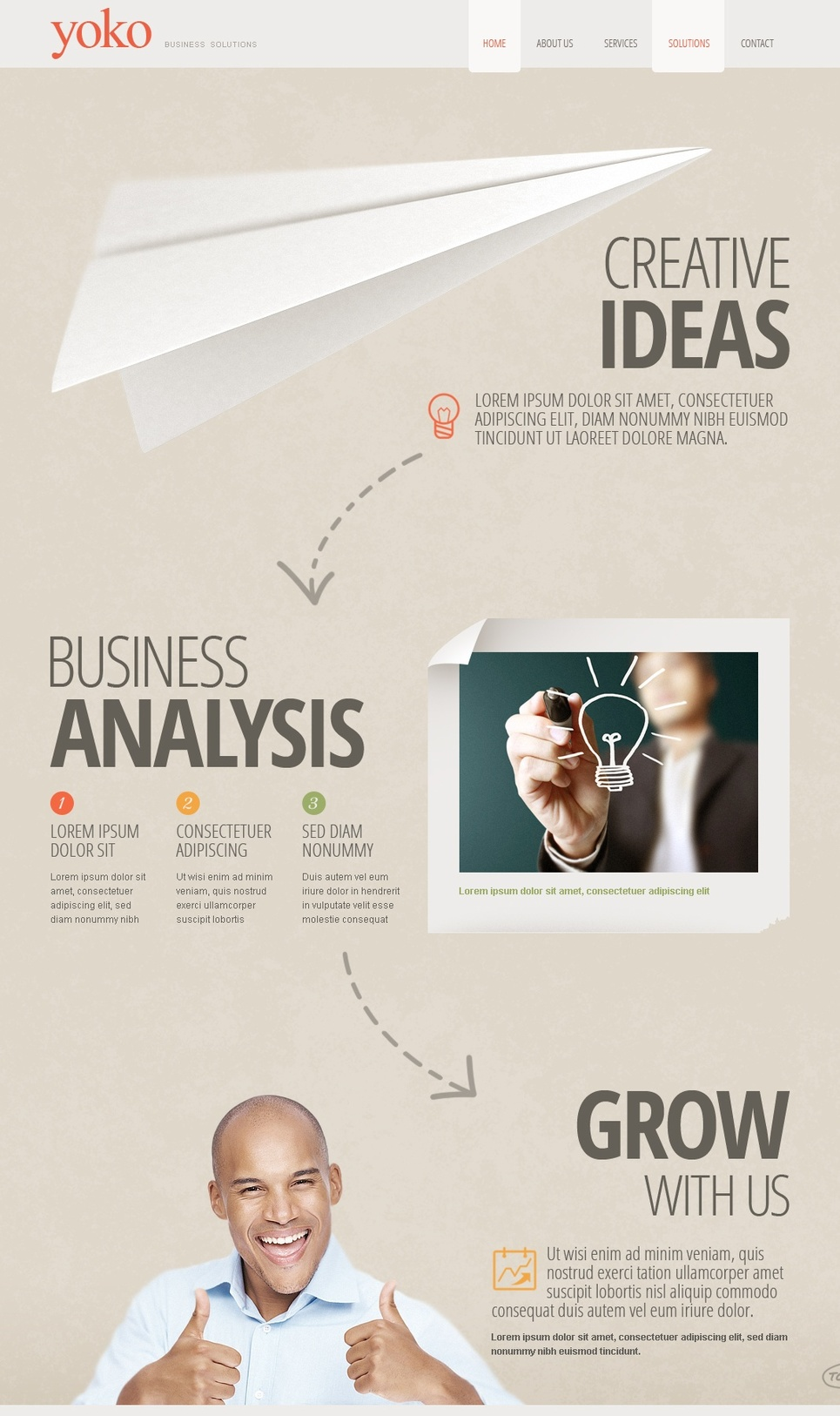 Creative Website Template for Growing Business Companies - image