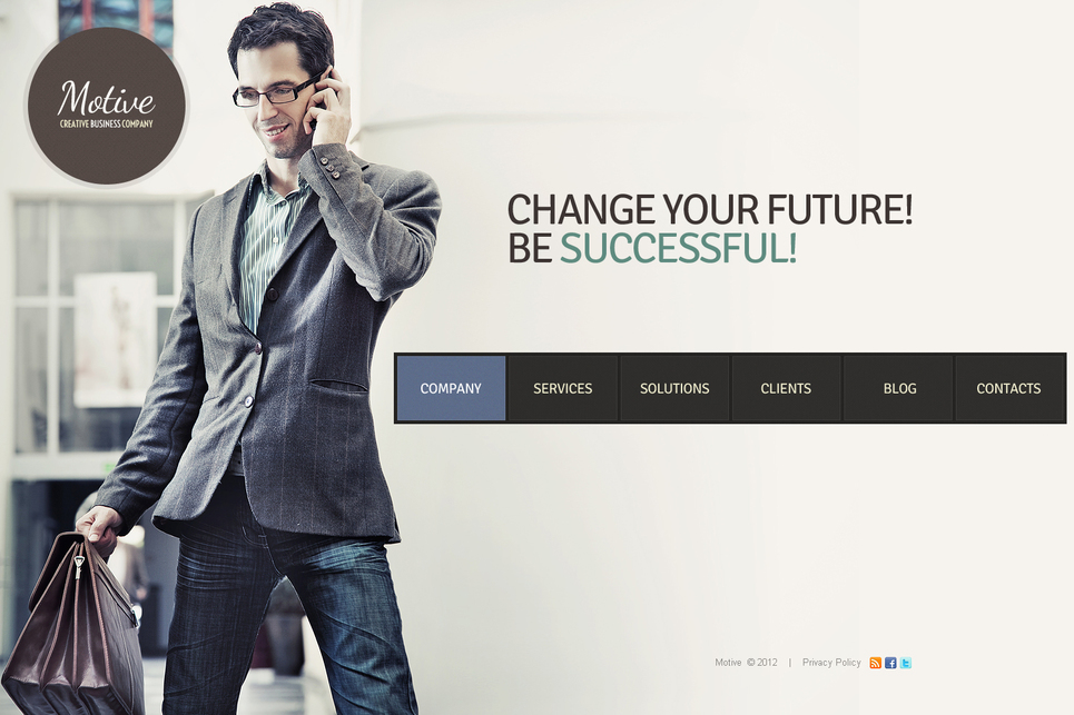 Creative Business Template with Photographic Background - image