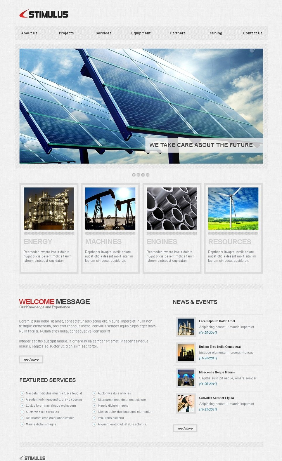 Industrial Services Website Template for a Business Company - image
