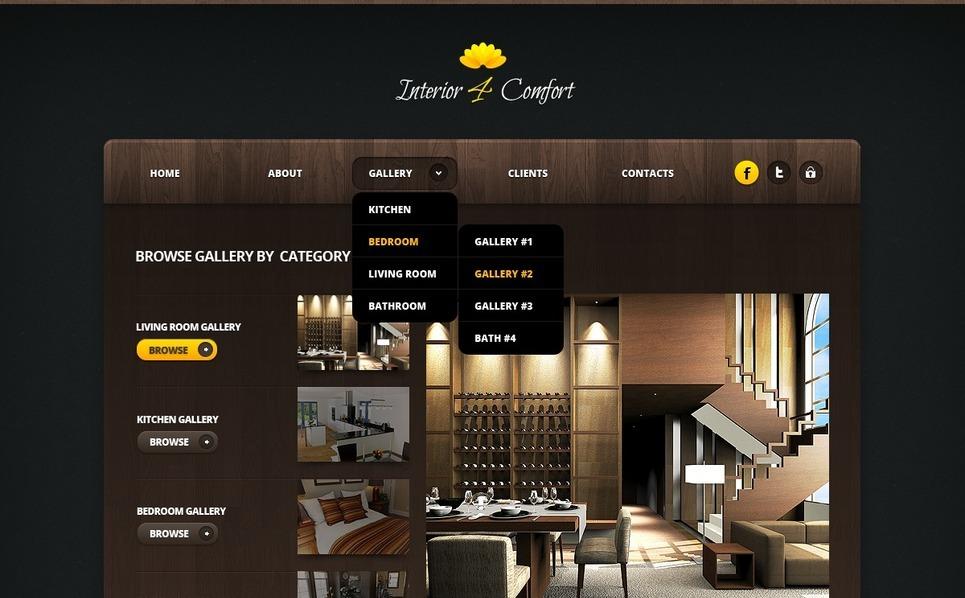 Interior Design Website Template New Screenshots BIG
