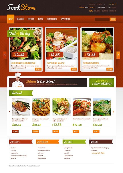 Food store - Mouth-Watering Food Store PrestaShop Theme