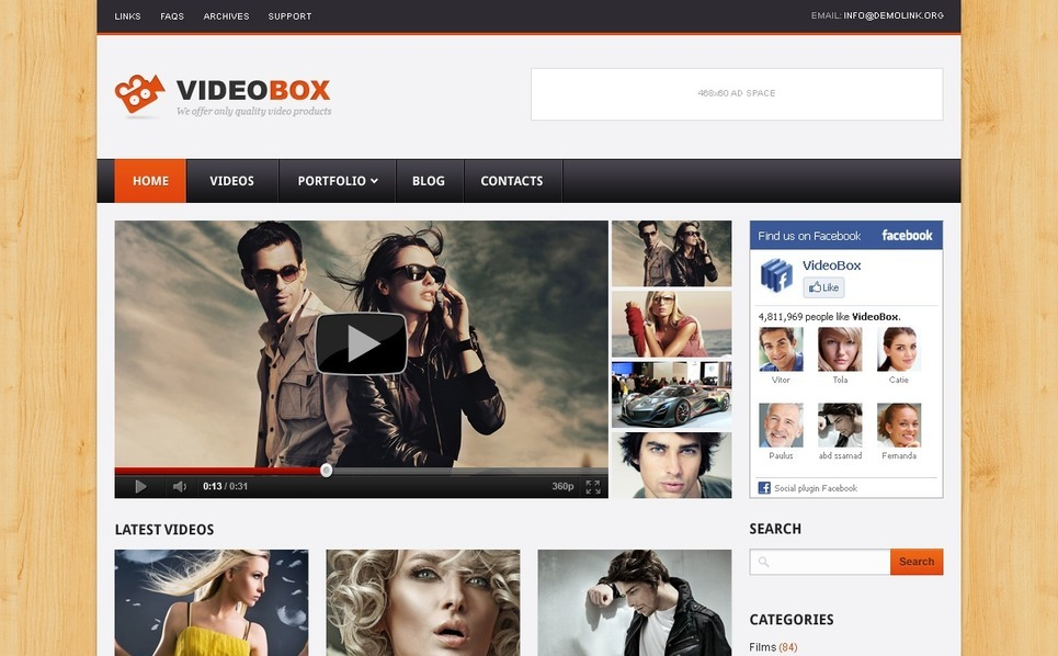 Video Gallery WordPress Theme New Screenshots BIG