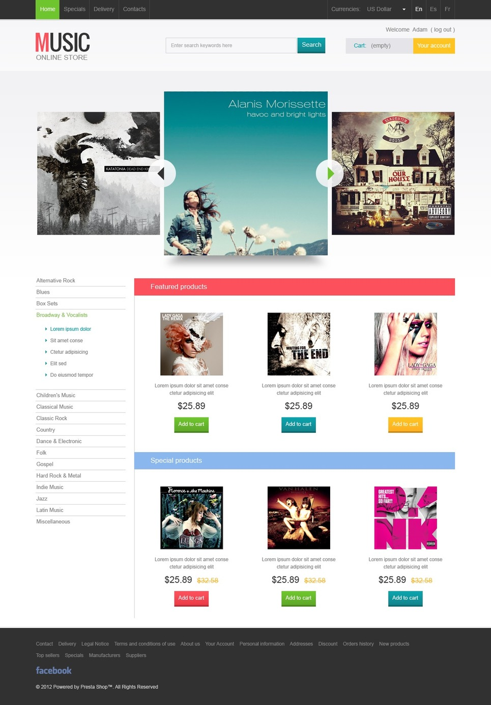 Superior Music Beat Online Store PrestaShop Theme