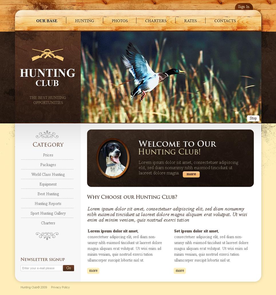Hunting Club Flash CMS Template - image