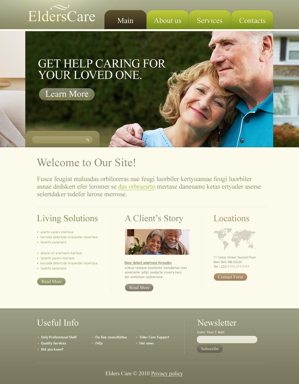 Elders Care Flash Template - image