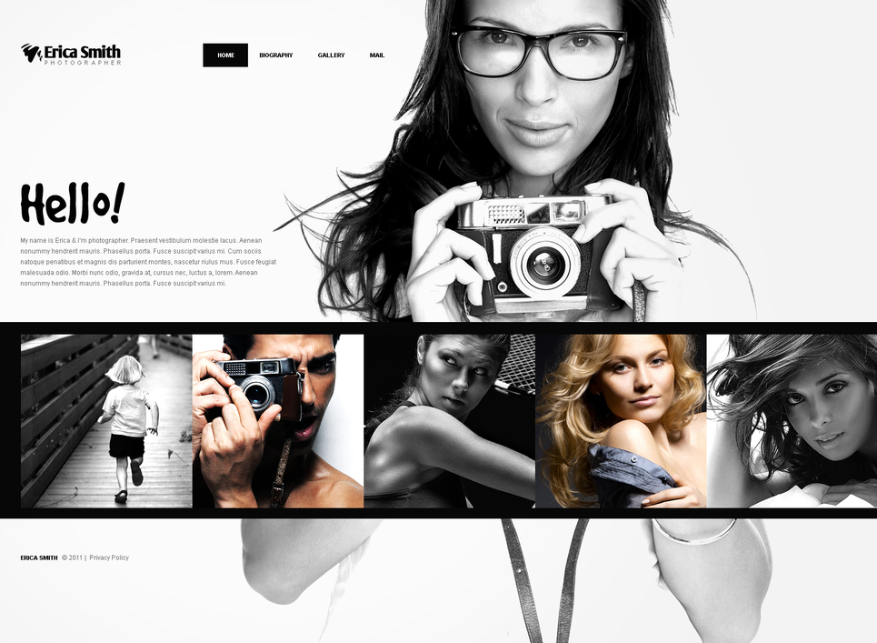 Online Portfolio Template for Photographers - image