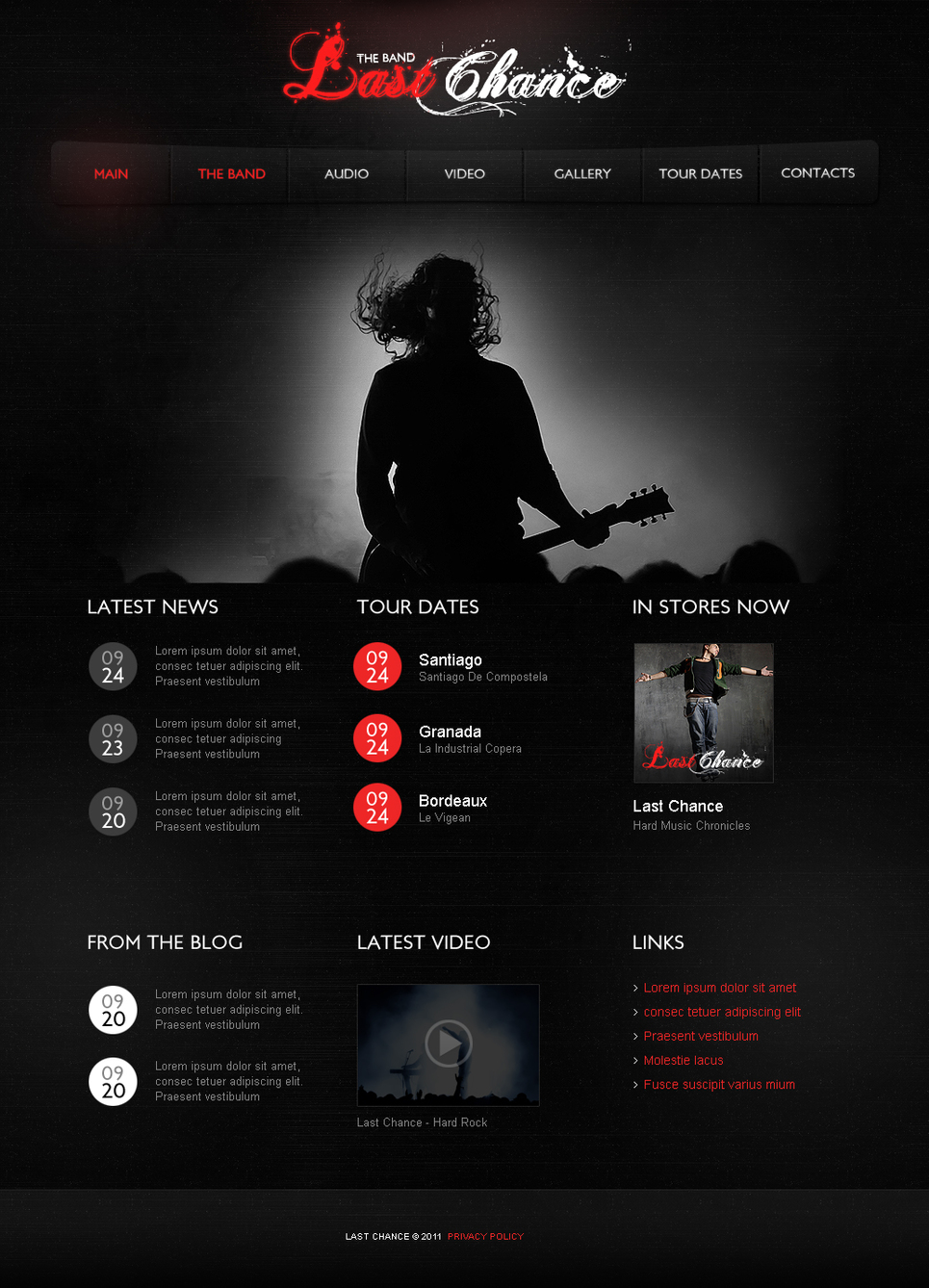 Music Flash Template for a Rock Band - image