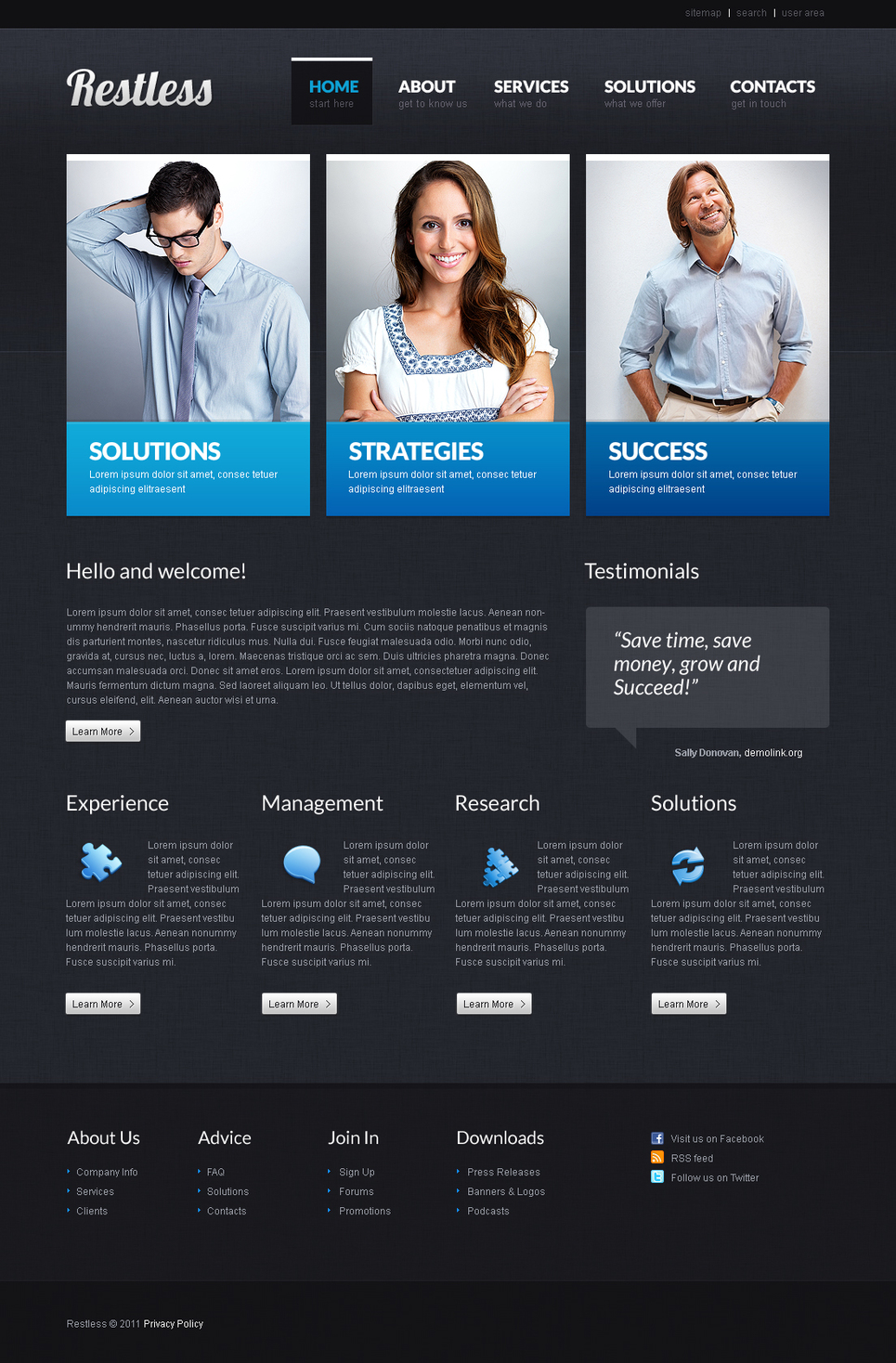 Flash Template for a Successfully Growing Business - image