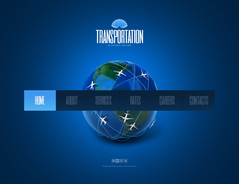 Transportation Web Template with a Splash Page - image