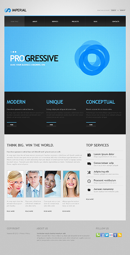 Imperial - Best Responsive Advertising Agency WordPress Theme