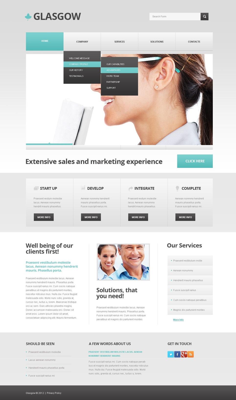 Advertising Agency Responsive WordPress Theme New Screenshots BIG
