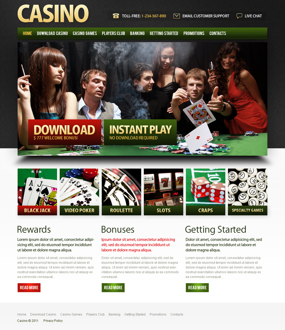 Casino Website Template with CMS - image