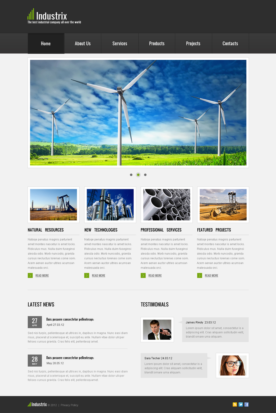 Industrial Website Template with Products Catalog - image