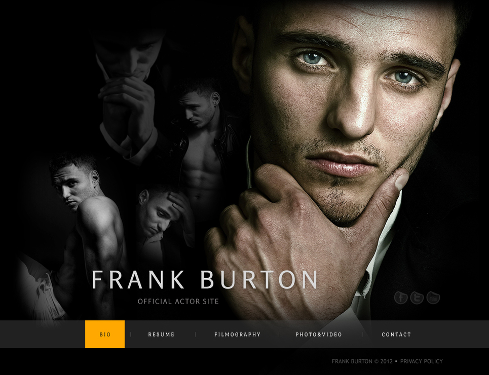 Personal Pages Web Page for Actors - image