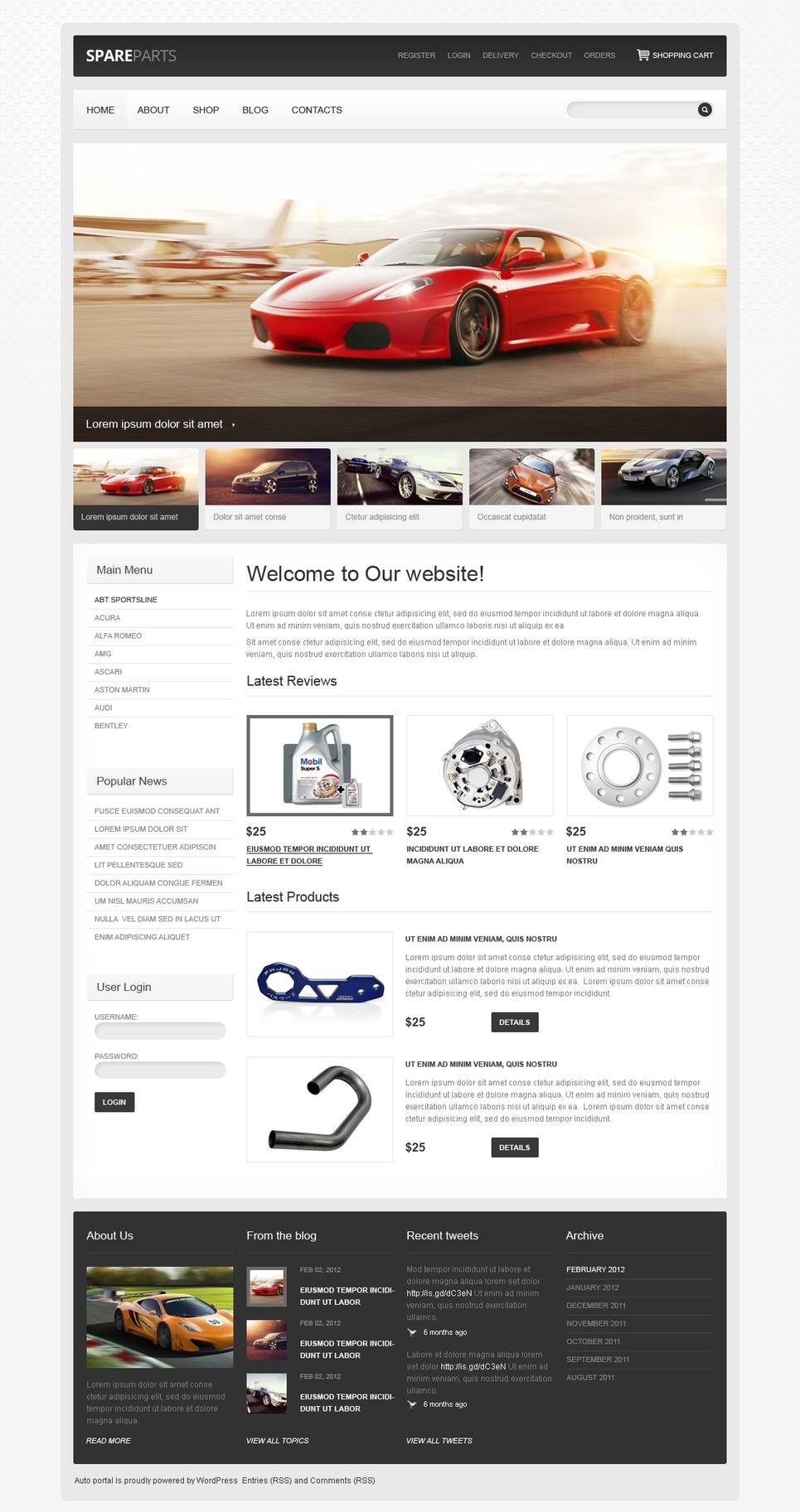 Stylish Car Spares JigoShop Theme