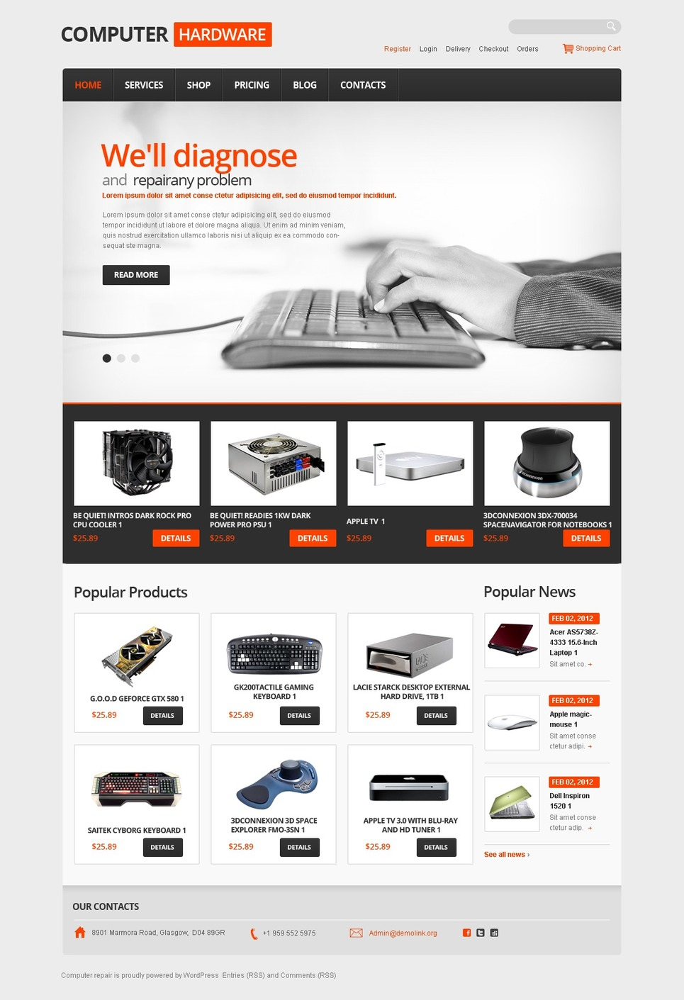 Latest Computers hardware JigoShop Theme