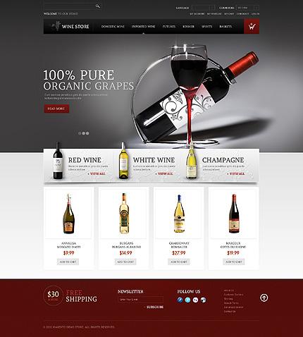 Wine store - Glorious Magento Wine Shop Theme