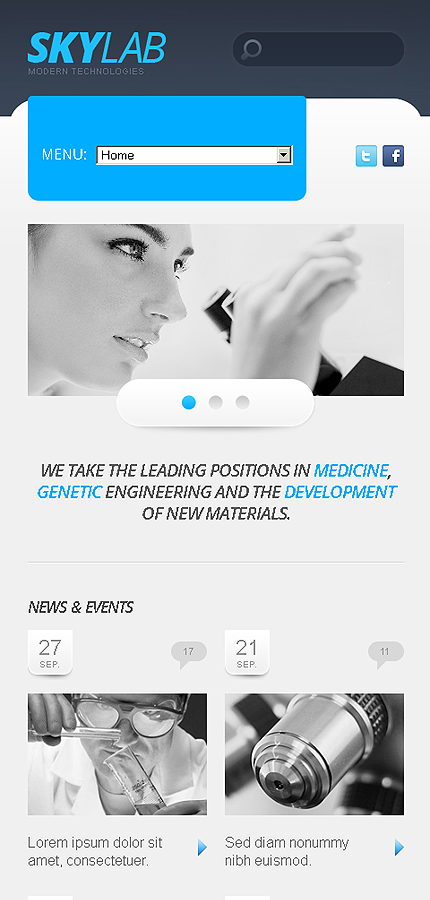 science lab responsive website template web design templates website templates download. Black Bedroom Furniture Sets. Home Design Ideas