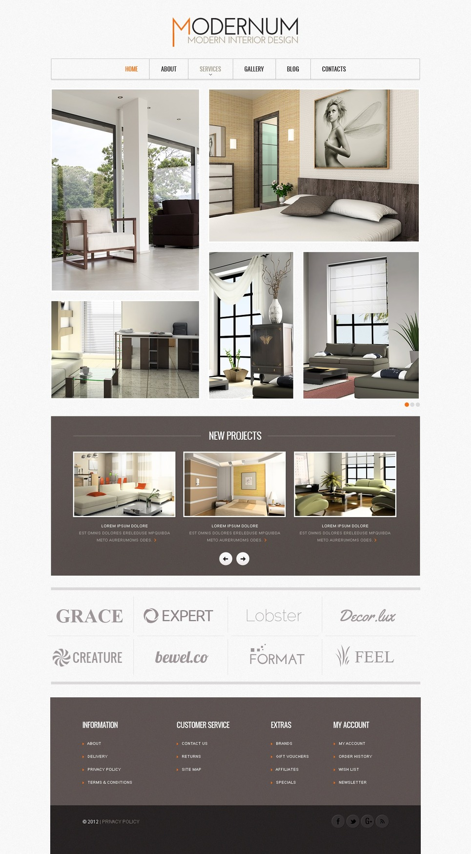 Modern Interior Design Website Template Web Design Templates Website Templates Download