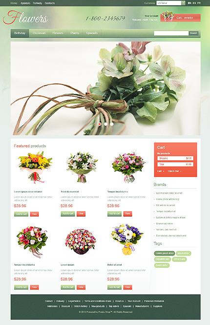 Flowers - Flourishing Flower Store PrestaShop Theme