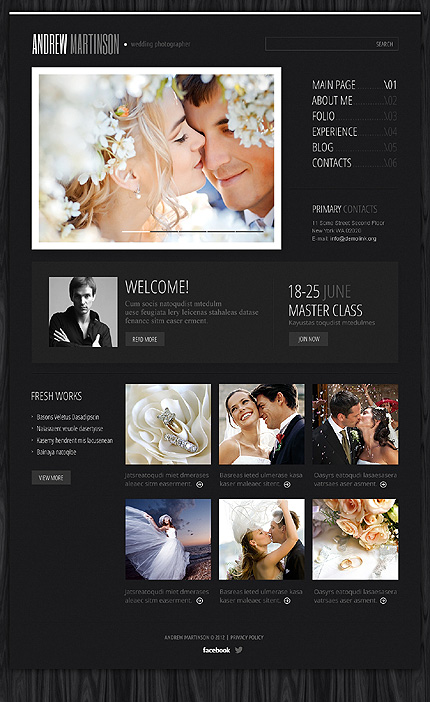 Andrew Martinson - Best Photographer Portfolio WordPress Theme
