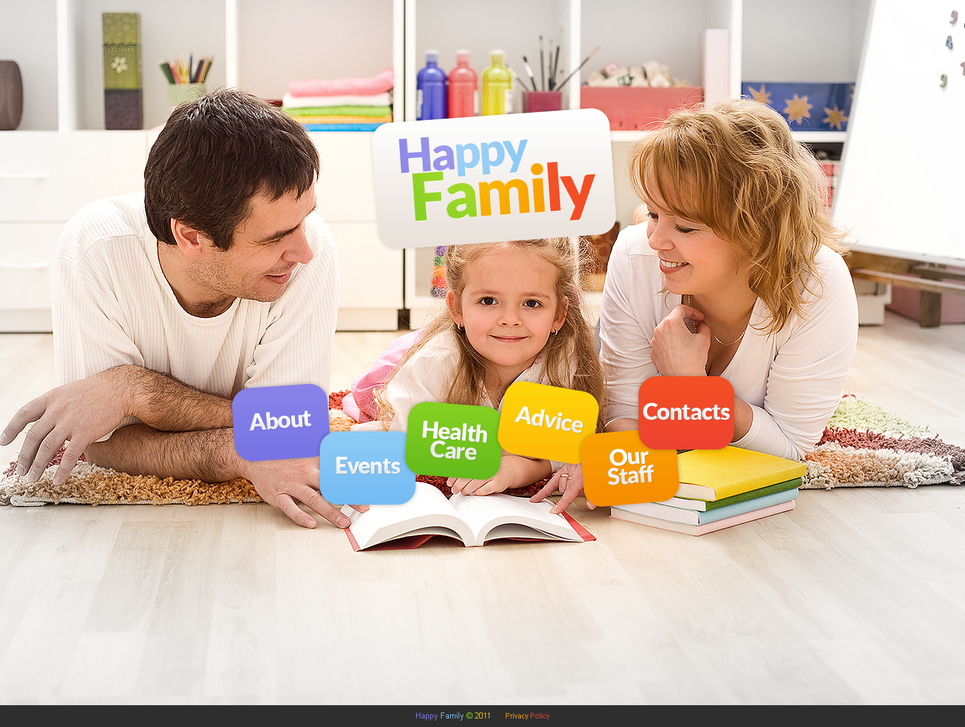 Family Website Template with a Photo Background - image